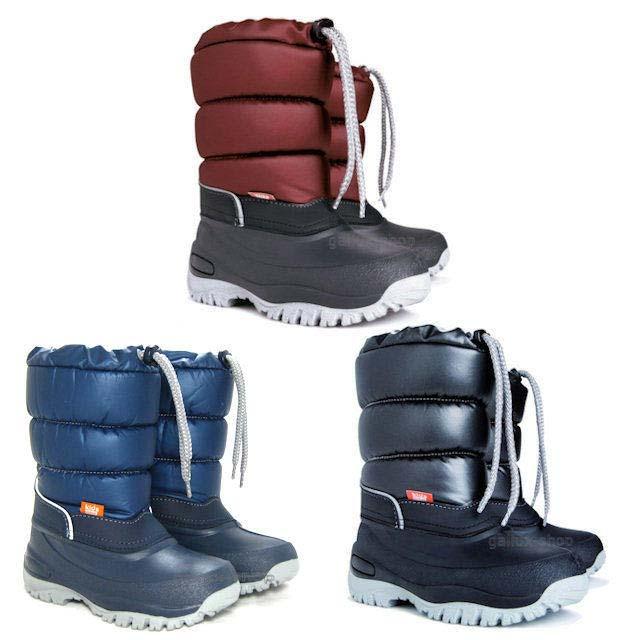 DEMAR-Schneestiefel-Winterstiefel-Gummistiefel-warm-gefuettert-Snowboots-Kinder