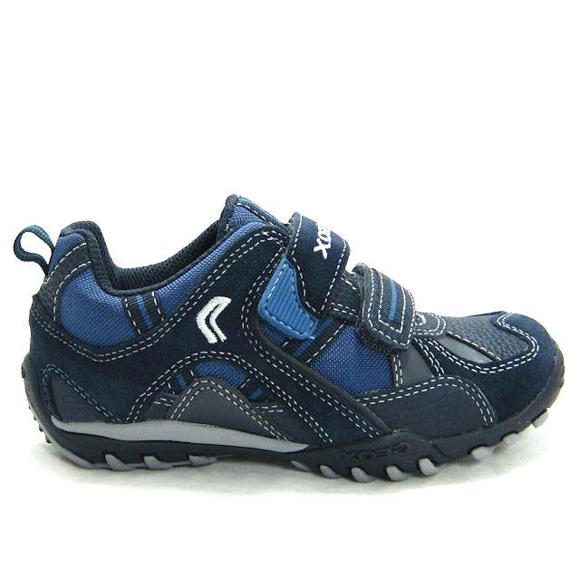 GEOX-KENNY-Schuhe-Sport-Sneaker-Jungen-Kinderschuhe-Klettschuhe-Leder ...