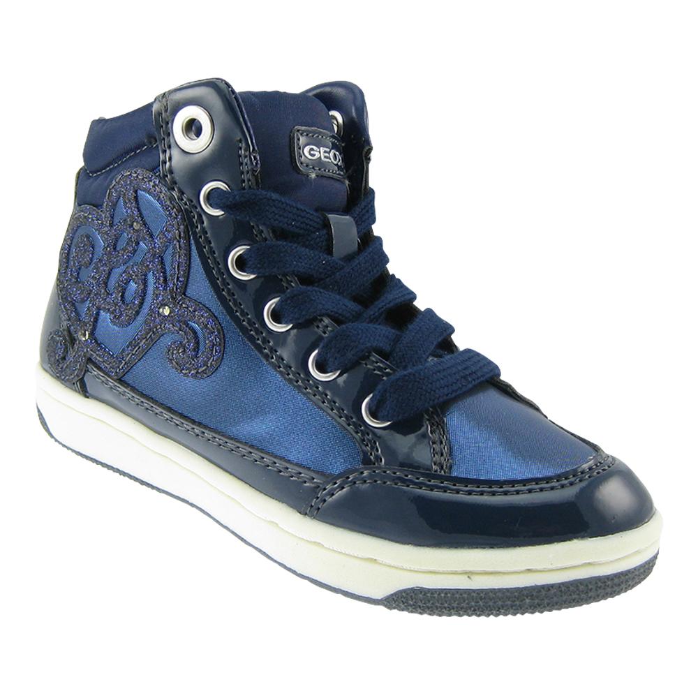 Details zu GEOX Gr.28 BLINKI Mädchen Sneaker knöchelhoch Kinderschuhe LED Blinker Schuhe