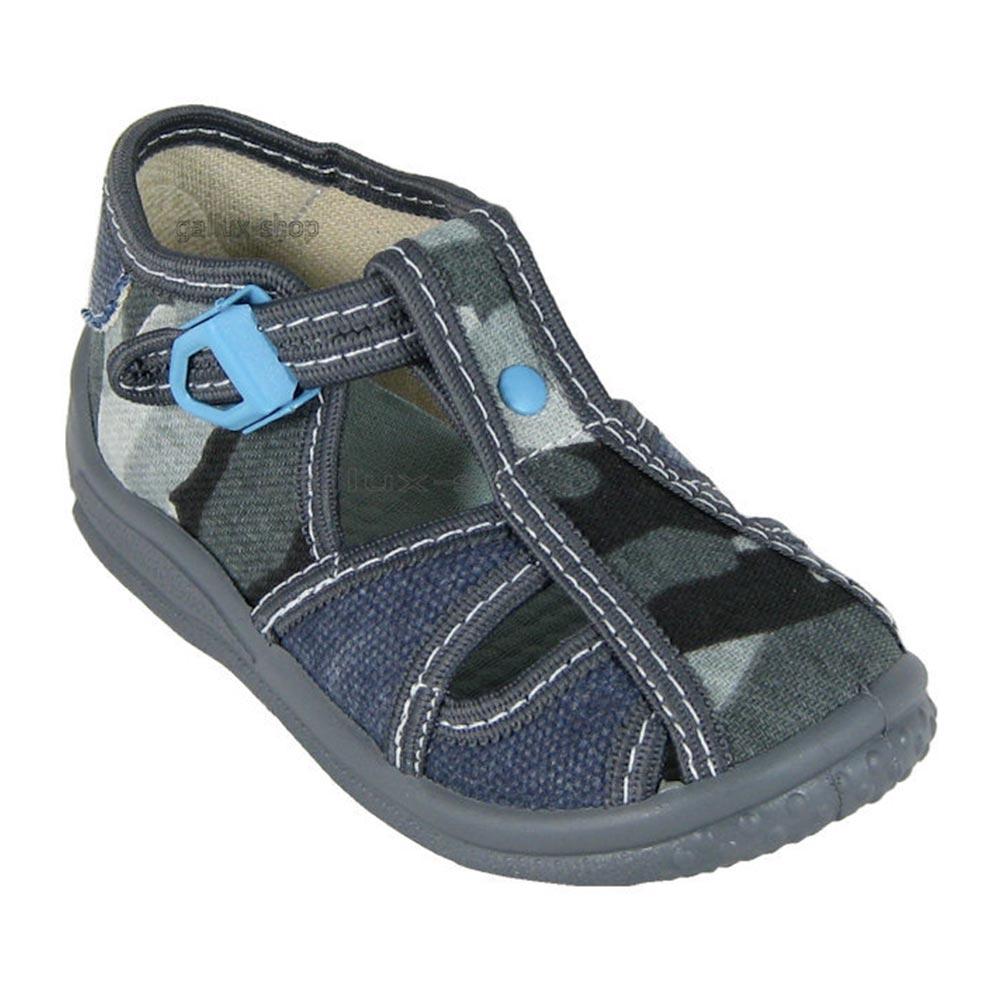 ZETPOL-Jungen-Hausschuhe-Halbsandale-Sandale-Textilschuhe-Baby-Kinderschuh-Schuh