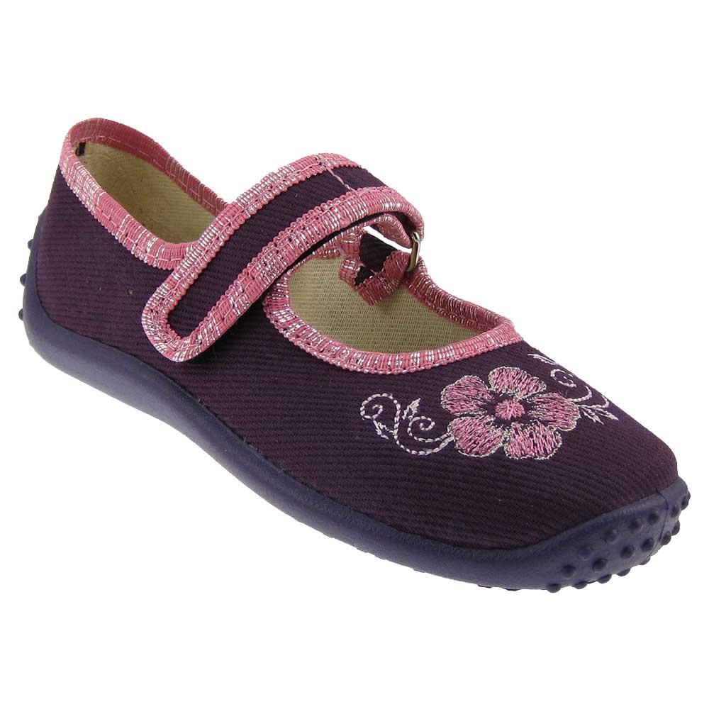 ZETPOL-Maedchen-Hausschuhe-Ballerina-Textil-Schuhe-Kinderschuhe-Freizeit-schmal