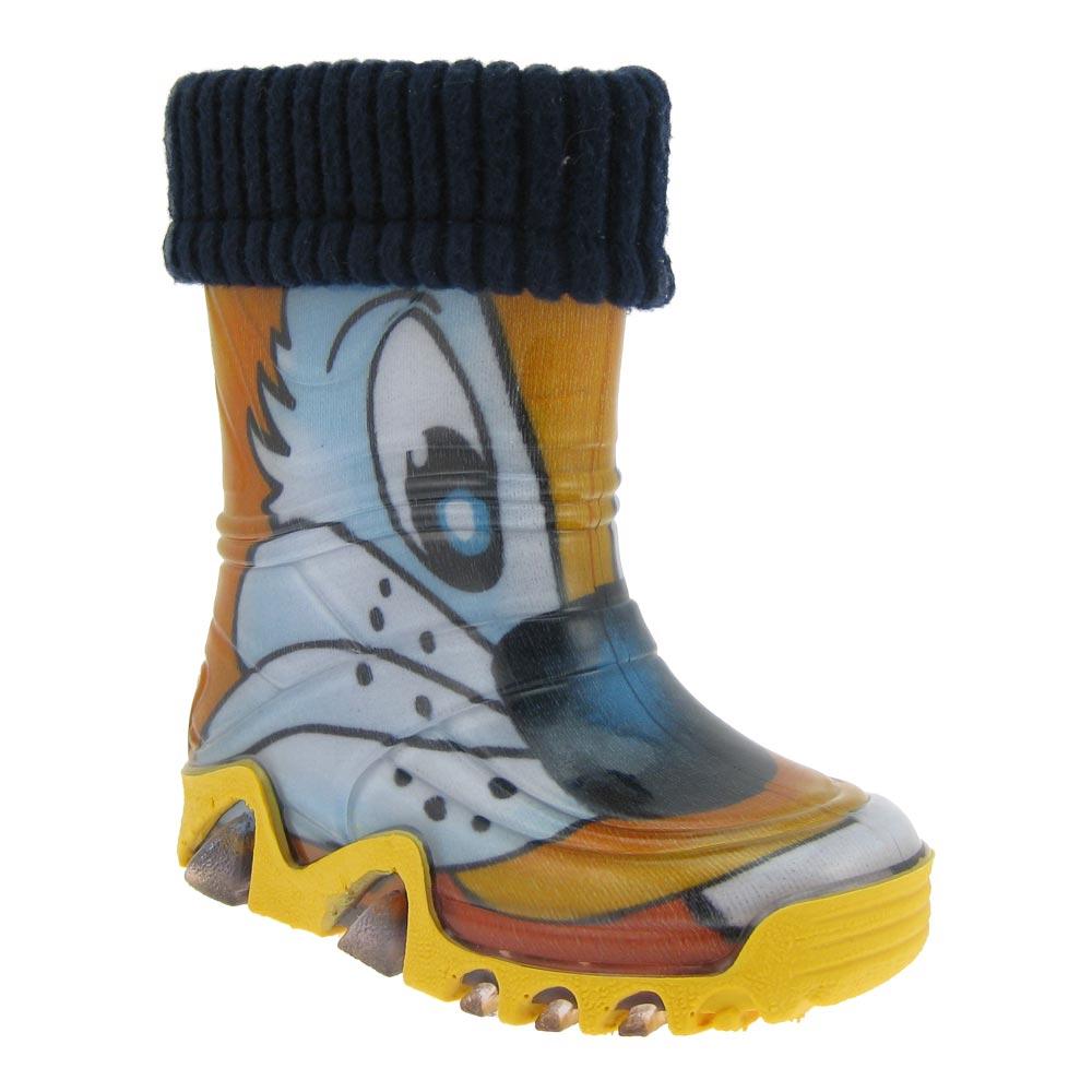 DEMAR Kinder Regenstiefel Gummistiefel Stiefel Socken Jungen Mädchen gefüttert