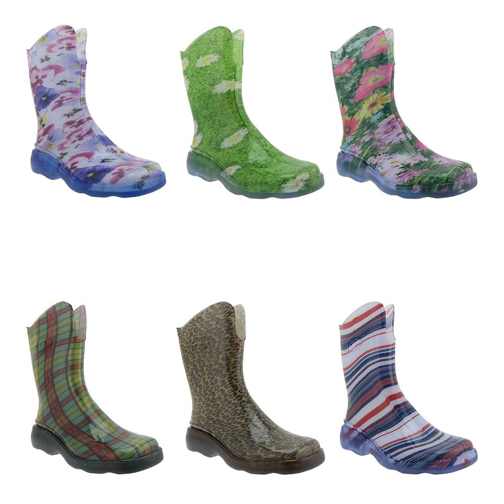 DEMAR-Damen-Maedchen-Regenstiefel-Gummistiefel-Stiefel-Freizeitstiefel-Schuhe-Neu