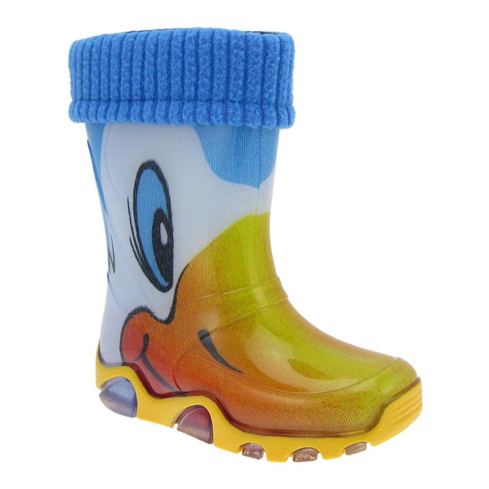 DEMAR-Kinder-Gummistiefel-Regenstiefel-gefuettert-m-Stiefelsocken-Stiefel-Motiv