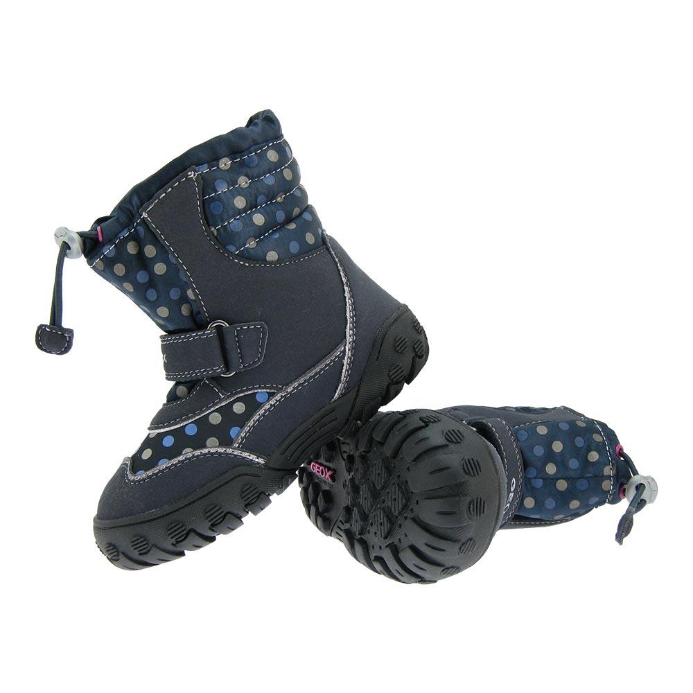 Detalles de Geox Amphibiox Blinki Niñas Botas de Invierno Forro Cálido Zapatos