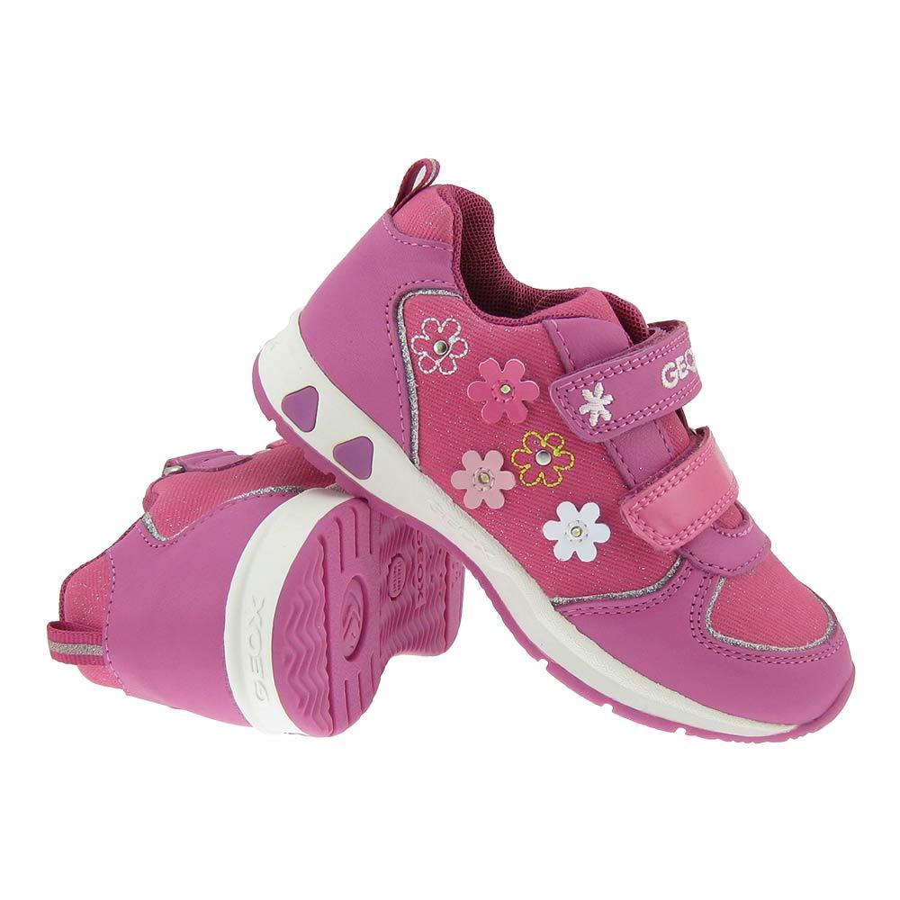 GEOX GR.22 BLINKI Sneaker Klett Mädchen Schuhe LED