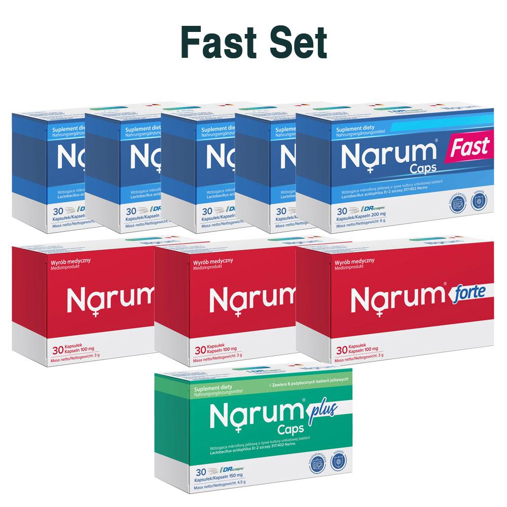 Set Narum auf Basis von Narine - Fast Set