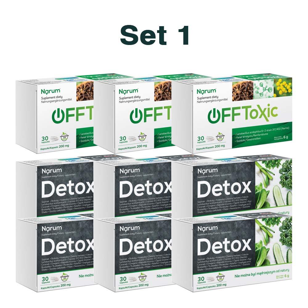 Set Narum auf Basis von Narine - Offtoxic + Detox Set No. 1