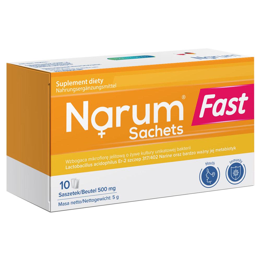 Narum Fast Sachets 500 mg auf Basis von Narine, 10 Beutel