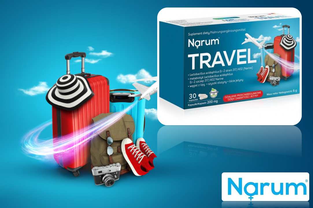 Narum Travel 200 mg auf Basis von Narine, 30 Kapseln