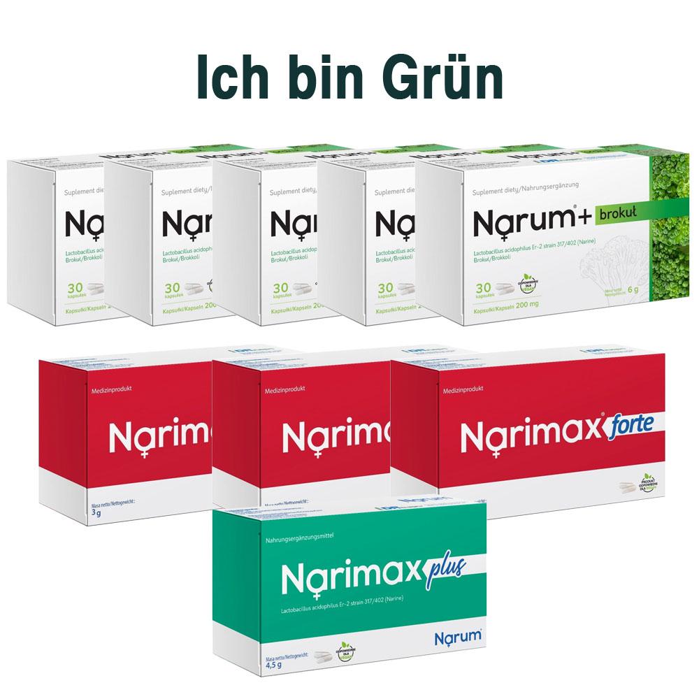 Set Narum auf Basis von Narine - Ich bin Grün