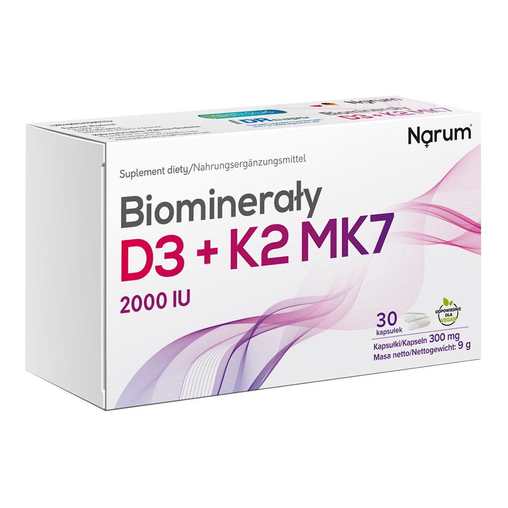 Narum D3 +K2 Mk7 300 mg, 30 Kapseln