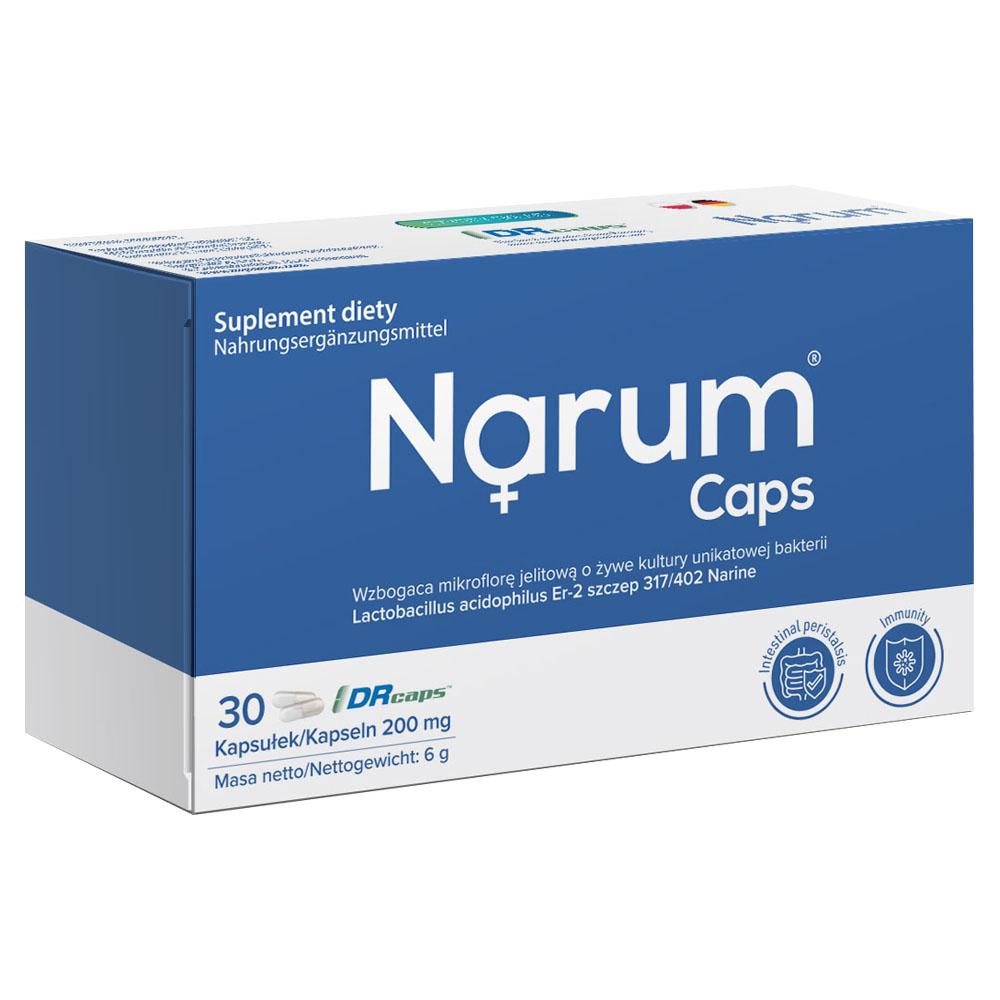 Narum Caps 200 mg auf Basis von Narine, 30 Kapseln