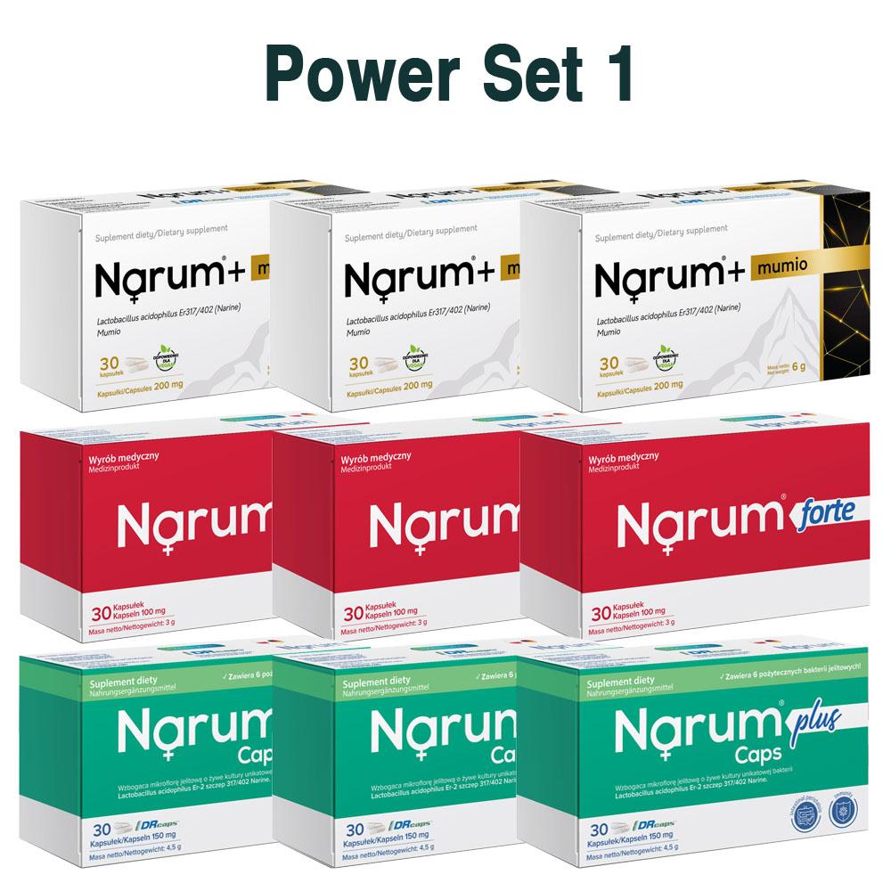 Set Narum auf Basis von Narine - Power Set 1