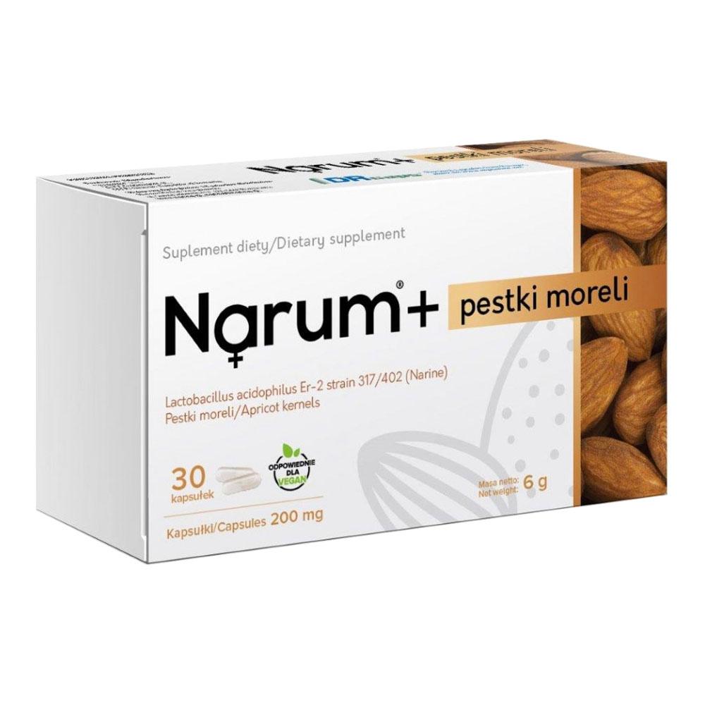Narum+ Aprikosenkerne 200 mg auf Basis von Narine, 30 Kapseln