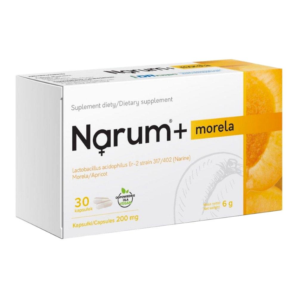 Narum+ Aprikose 200 mg auf Basis von Narine, 30 Kapseln