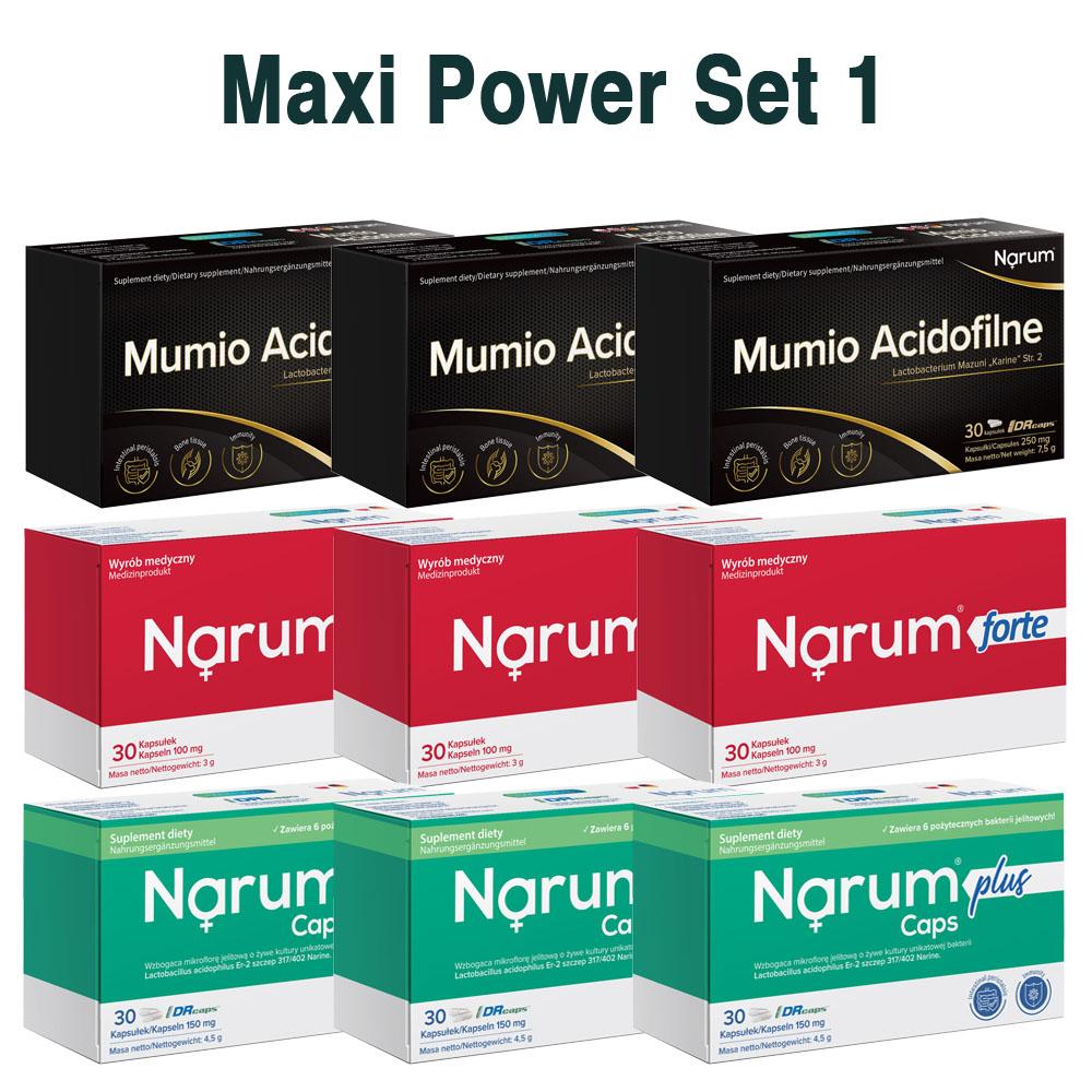 Set Narum auf Basis von Narine - Maxi Power Set