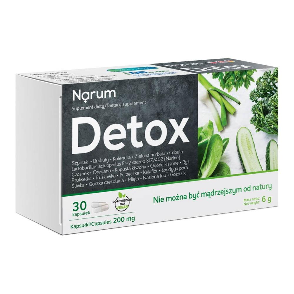 Narum Detox 200 mg auf Basis von Narine, 30 Kapseln