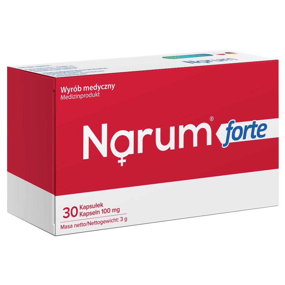 Narum Forte 100 mg auf Basis von Narine, 30 Kapseln