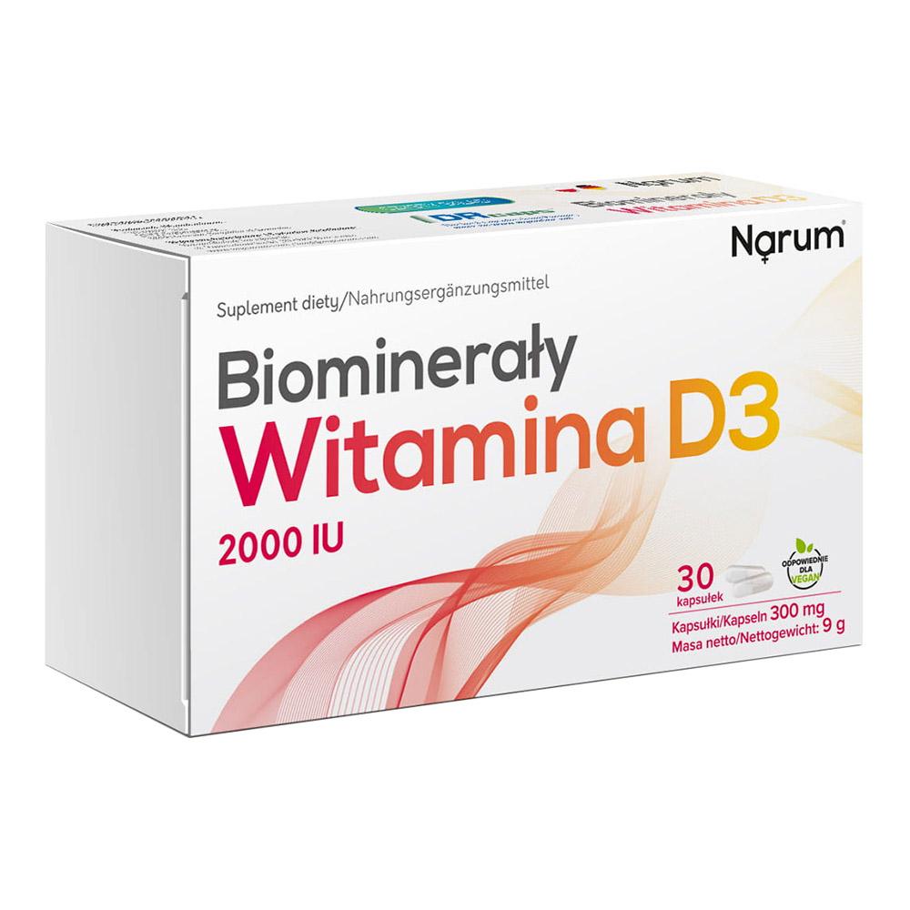 Narum D3 + Biomineral 300 mg, 30 Kapseln