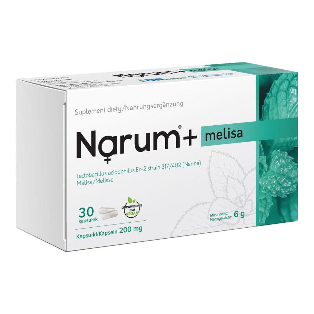 Narum+ Melisse 200 mg auf Basis von Narine, 30 Kapseln