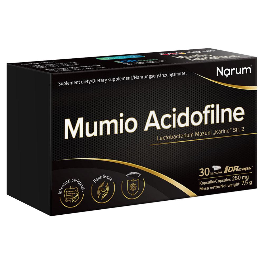 "Narum Mumio (Mumijo Shilajit) Acidophile 250 mg + Lactobacterium mazuni ""Karine"" Str.2, 30 Kapseln"